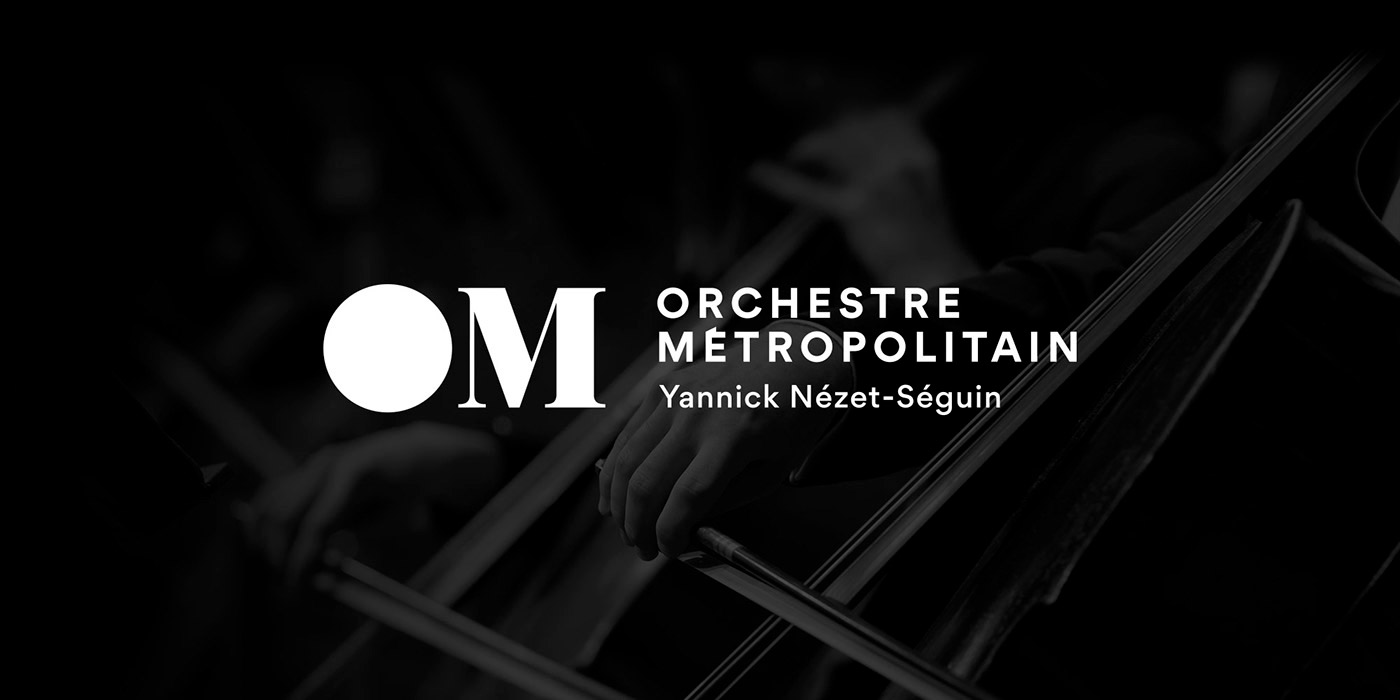 Orchestre Metropolitain Identity Design - Playing with Contrasts and Sensations