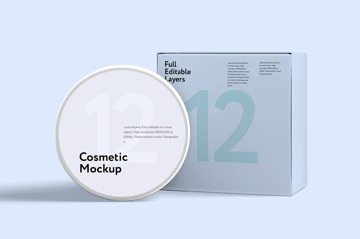 Freebie to Download - Free Cosmetic Mockup