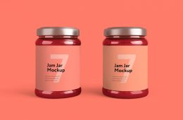 Free to Download - Minimalistic Jam Jar Mockup