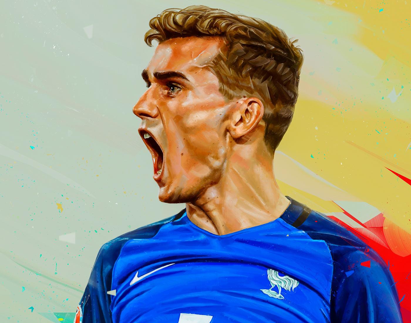 Digital Art & Illustration Inspiration - Soccer Art by Denis Gonchar