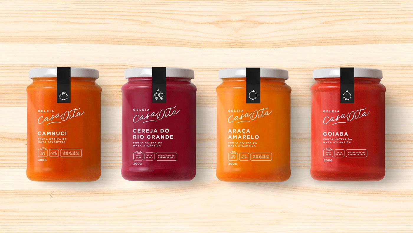Graphic Design & Packaging Inspiration - Casa Dita Geleia Orgânica by Bea Janoni