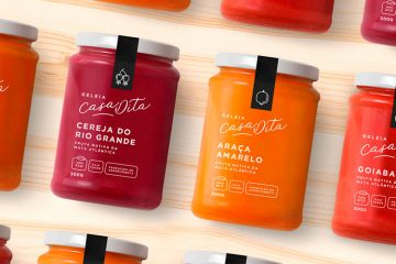 Graphic Design & Packaging Inspiration - Casa Dita Geleia Orgânica by Bea Janoni