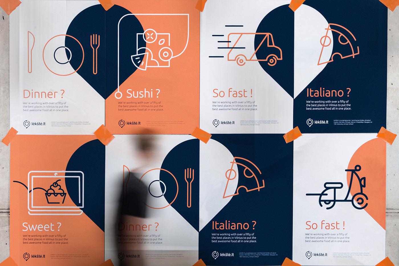 Branding & Stationary Design Inspiration - Lekste / Food Delivery by Andstudio