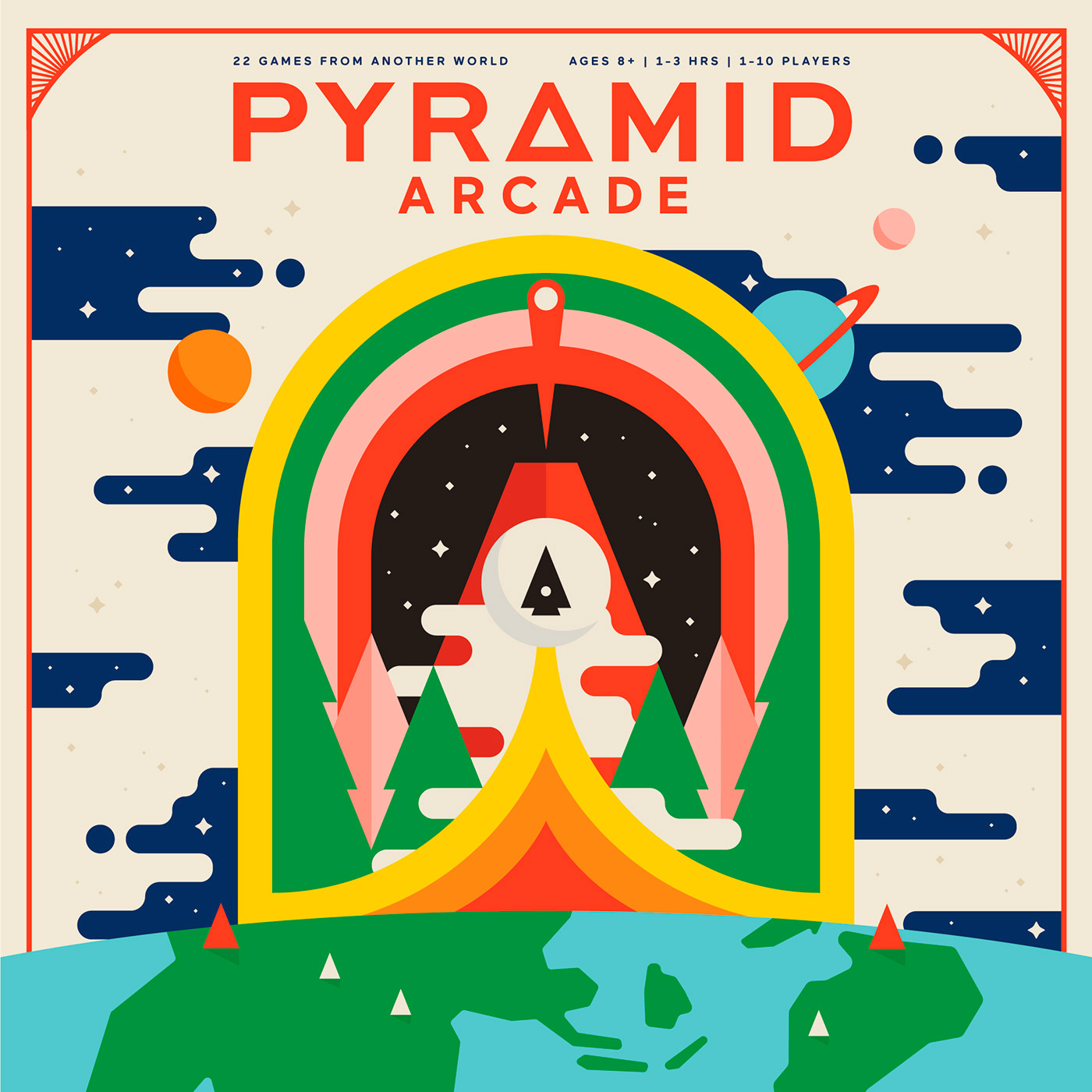 Pyramid Arcade - Branding, Print, Packaging Design Inspiration