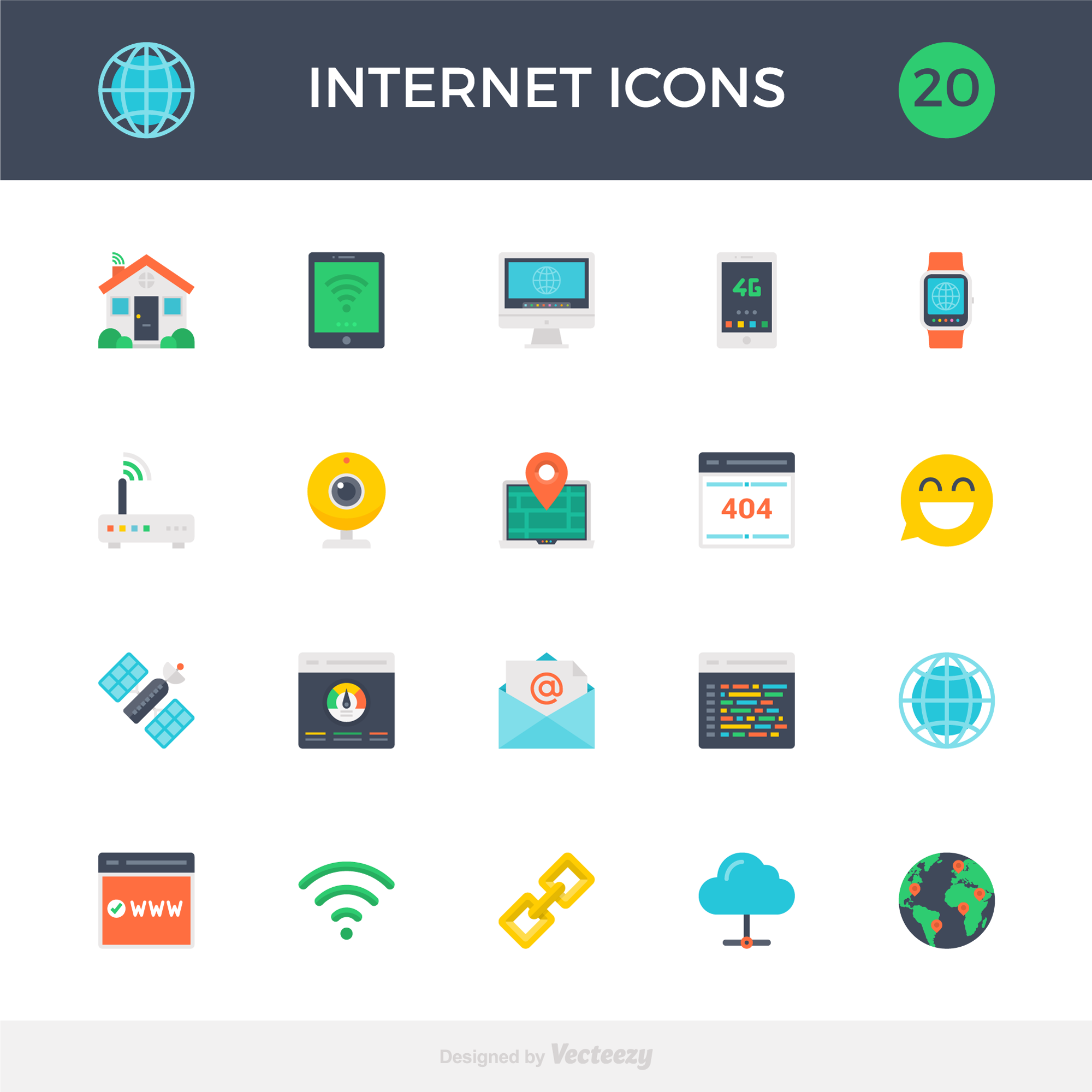 Internet Icons - Free icons to download - Illustrations