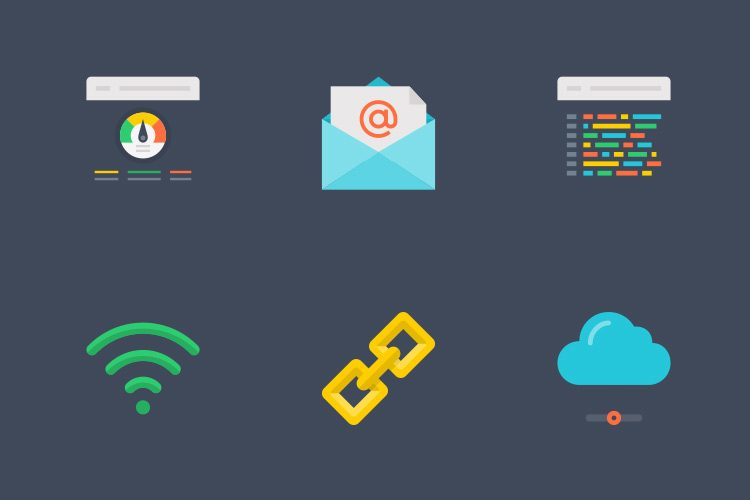 Free Template - A Set of Internet Icons to Download