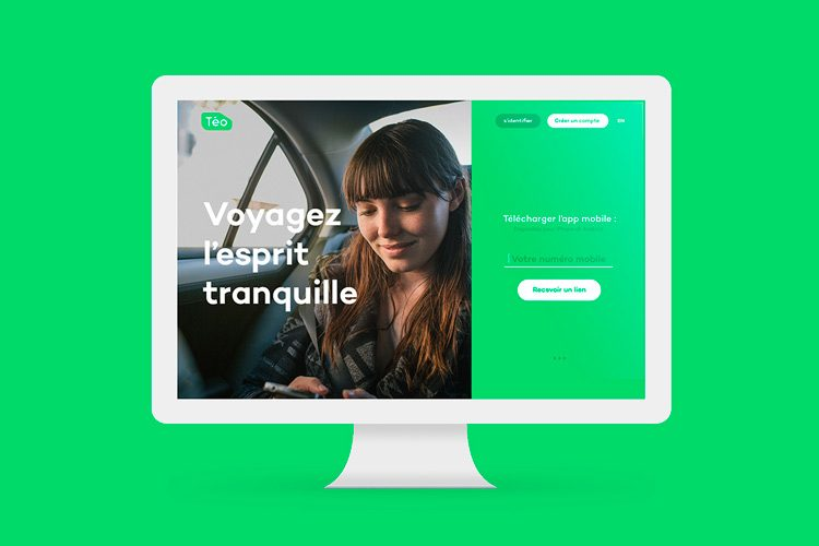 Communicating the Ecological Side of the Brand - Graphic & Web Design for Téo Taxi