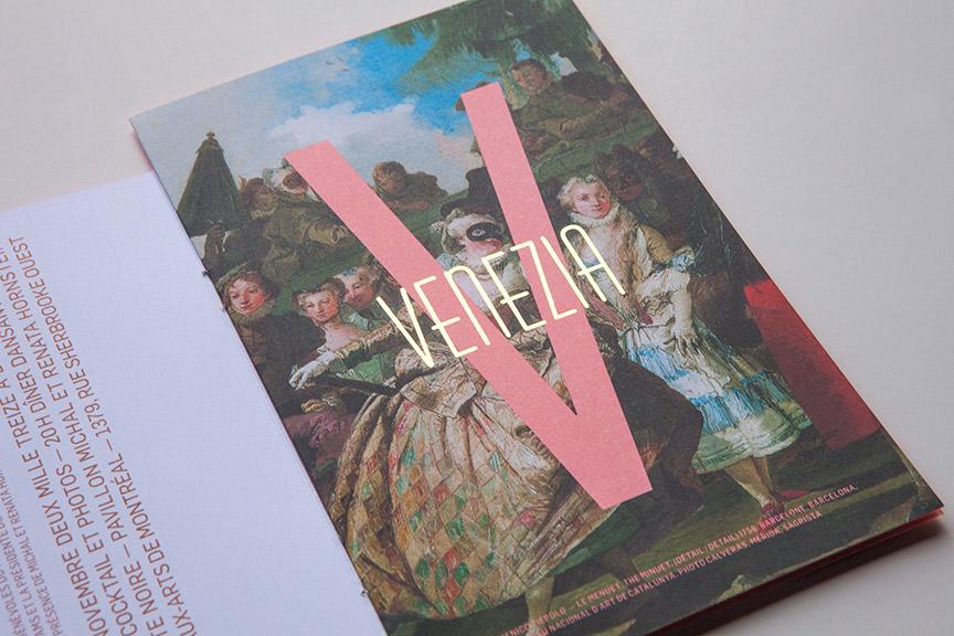 Graphic & Print Design - Invitation to the Museum Ball