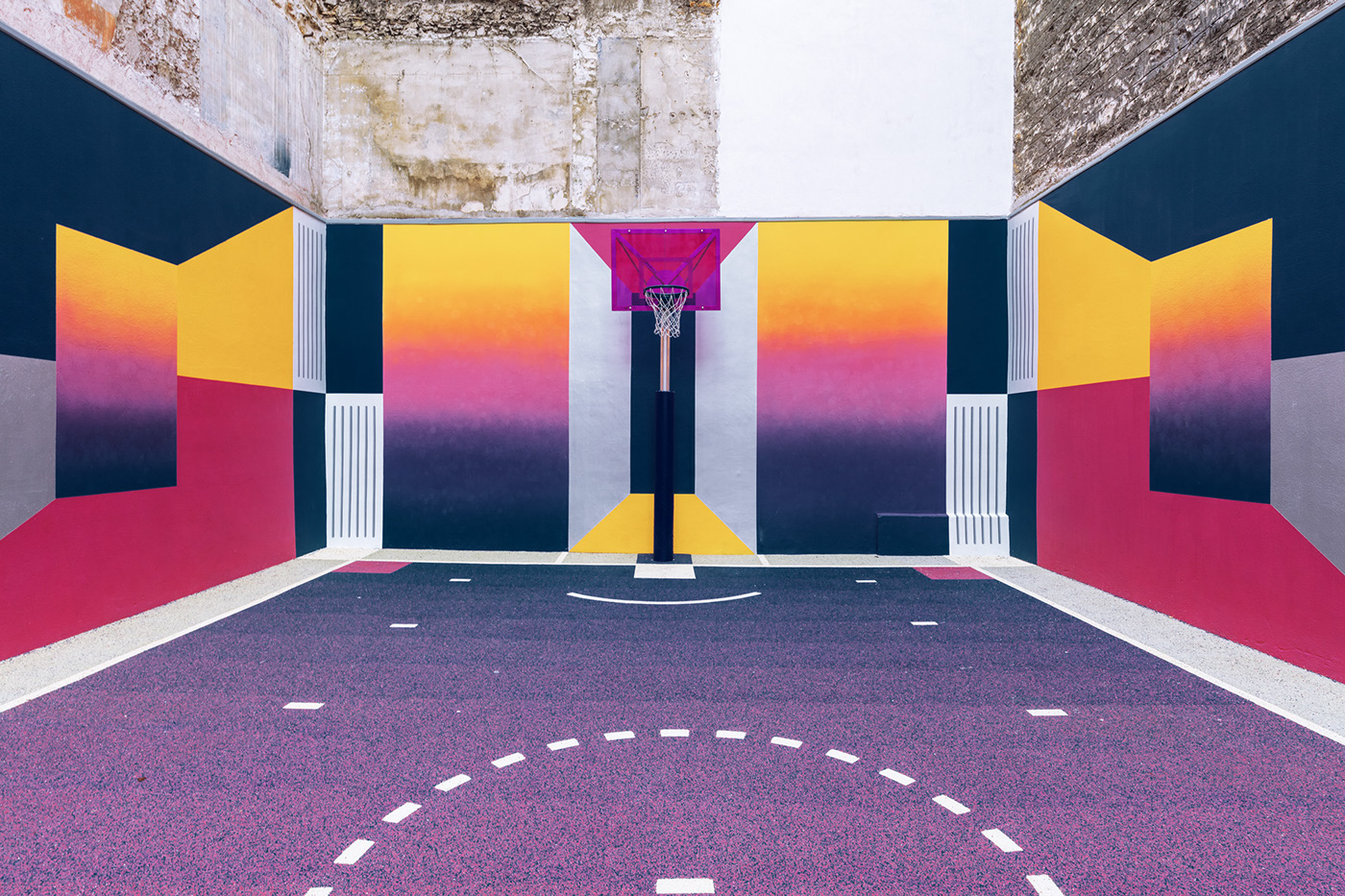 Nike, Pigalle and Ill-Studio Redesigned the Paris Duperré Basketball Court