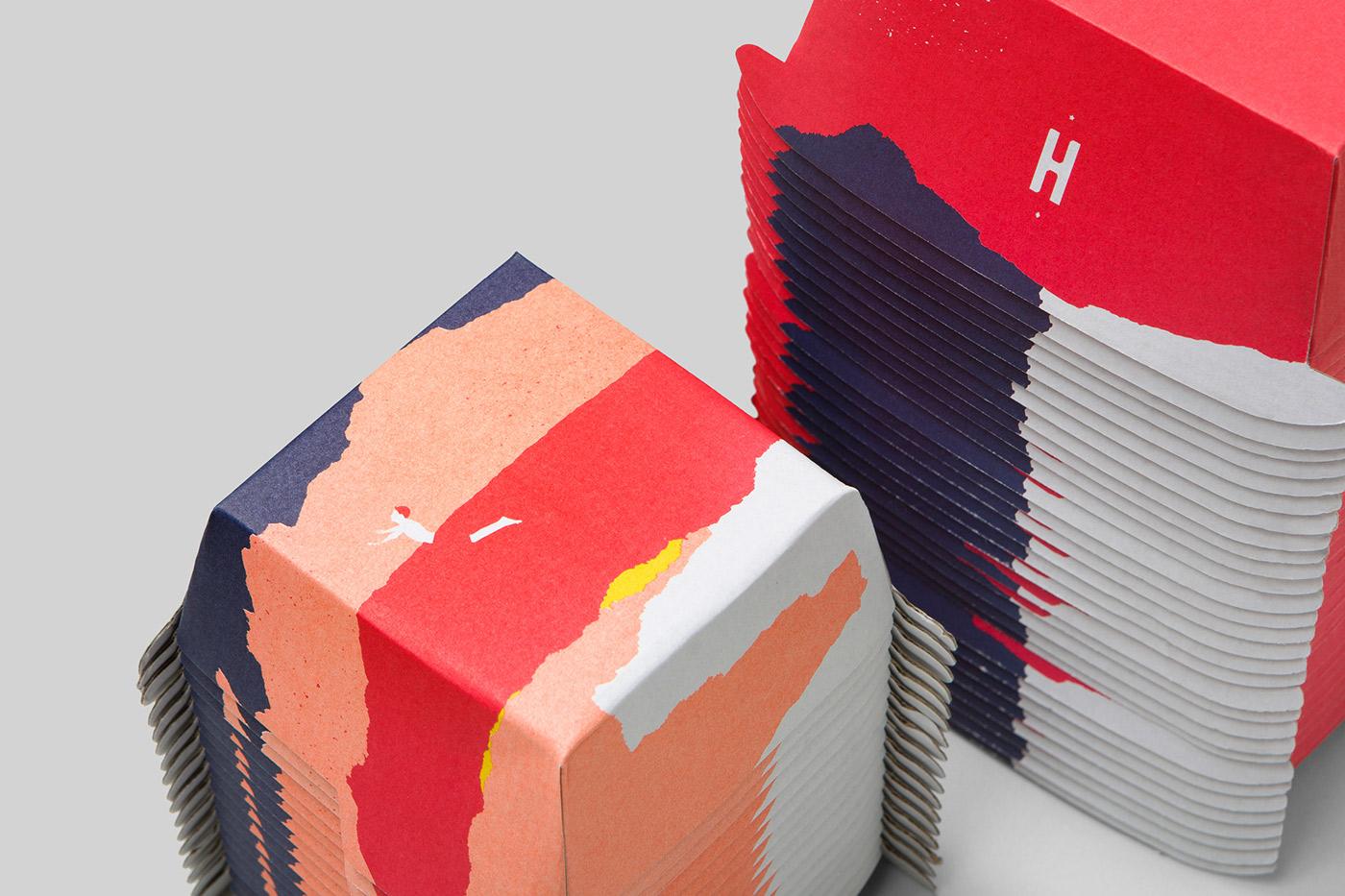 Packaging & Graphic Design - Huxtaburger by Pop & Pac