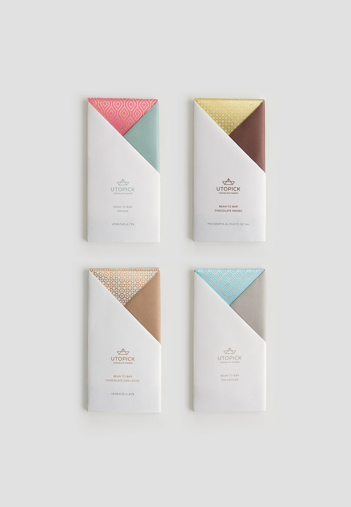 Flavors & Textures - Packaging Design for Utopick Chocolates