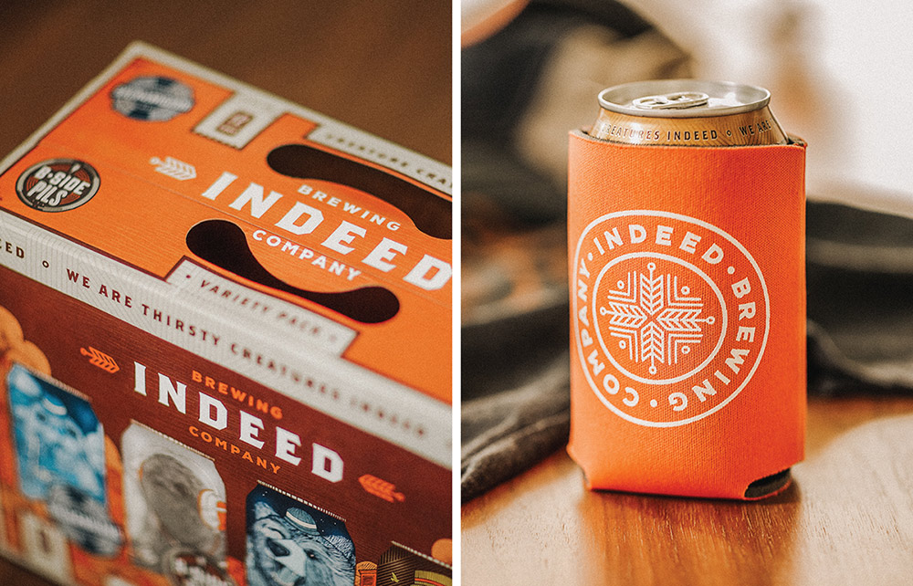 Cool Packaging & Beautiful Illustrations for Indeed Brewing Co