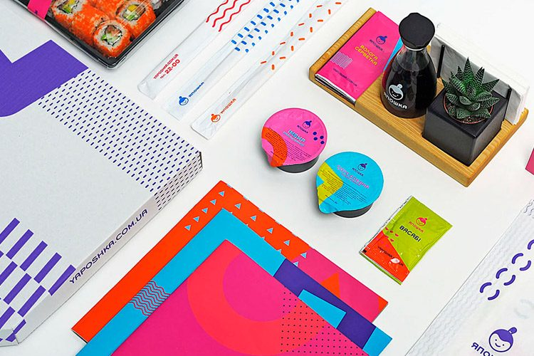 Branding Design Inspiration Delivery Services Yaposhka