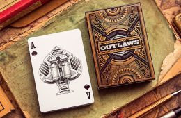 Awesome Illustration & Print Design Outlaws Playing Card Deck