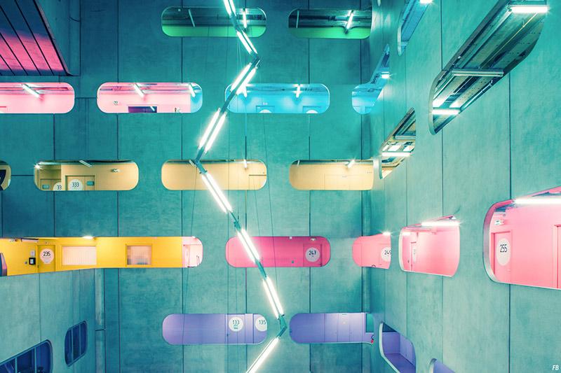 Atrium of Jussieu - Colorful Architecture & Photography