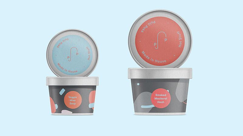 Polú Poké Packaging by Caterina Bianchini