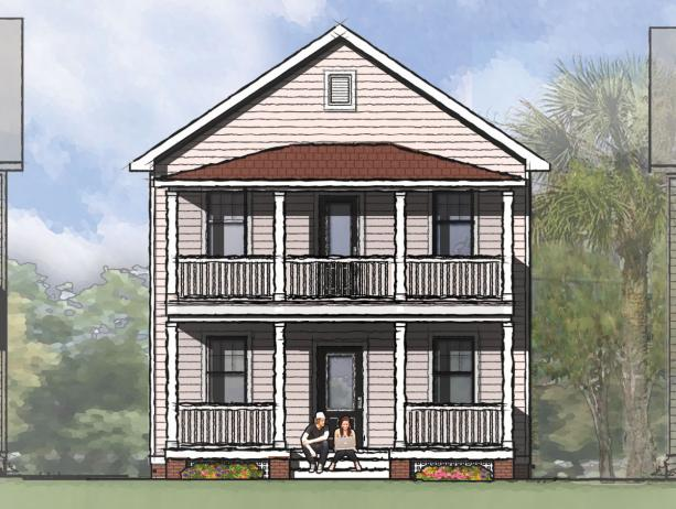 Stacked porches in 3 sizes 10039tt 2nd floor master for Charleston house plans narrow lots