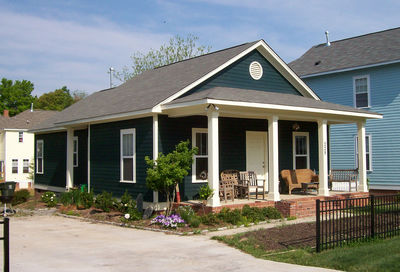 Classic single story bungalow 10045tt architectural for Single story craftsman bungalow house plans