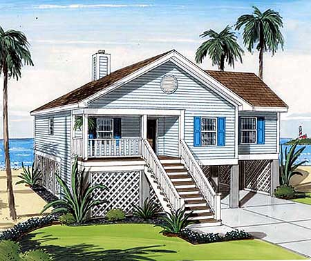 elevated waterfront home plan 11175g 1st floor master