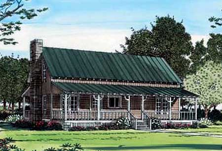 Country home with metal roof 11254g 1st floor master for House plans with metal roofs