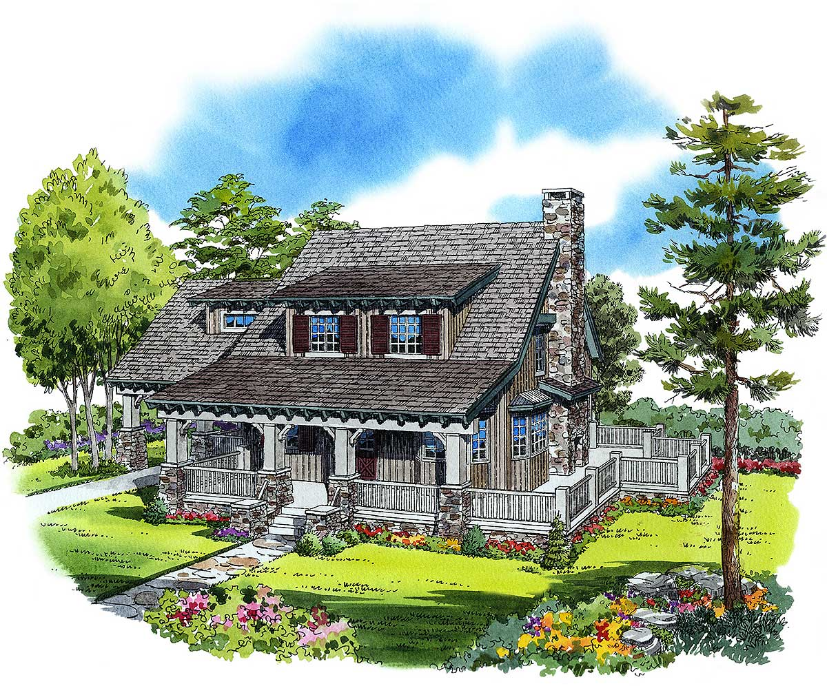 Cozy cottage 11523kn 1st floor master suite bonus for Cozy cottage plans