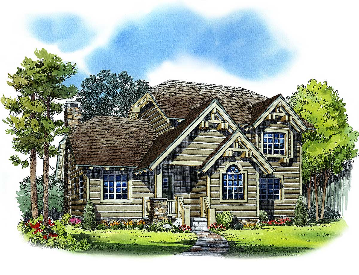 Handsome mountain house plan 11525kn architectural for Mountain house plans