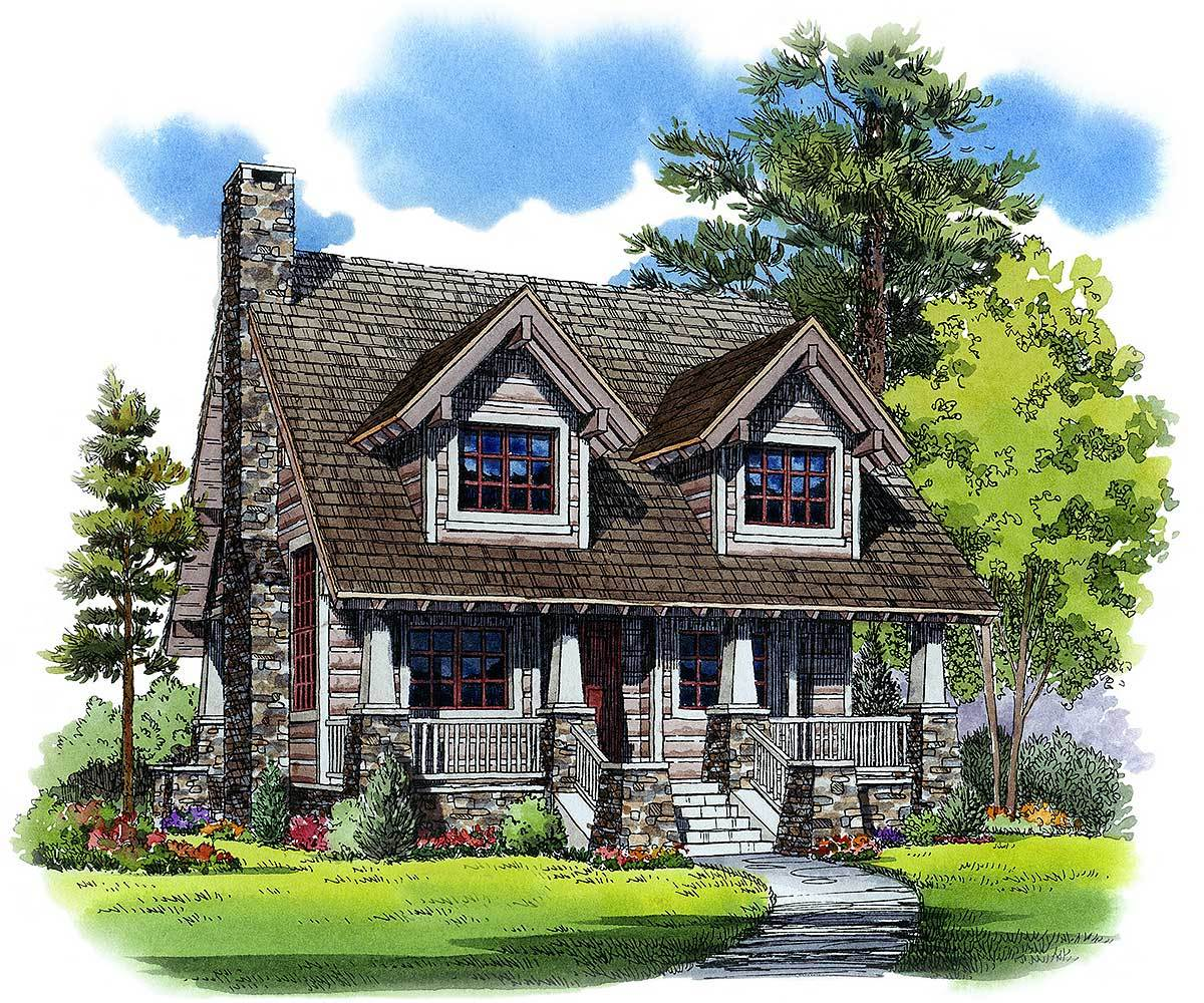 Cozy mountain house plan 11527kn architectural designs for Cosy house plans