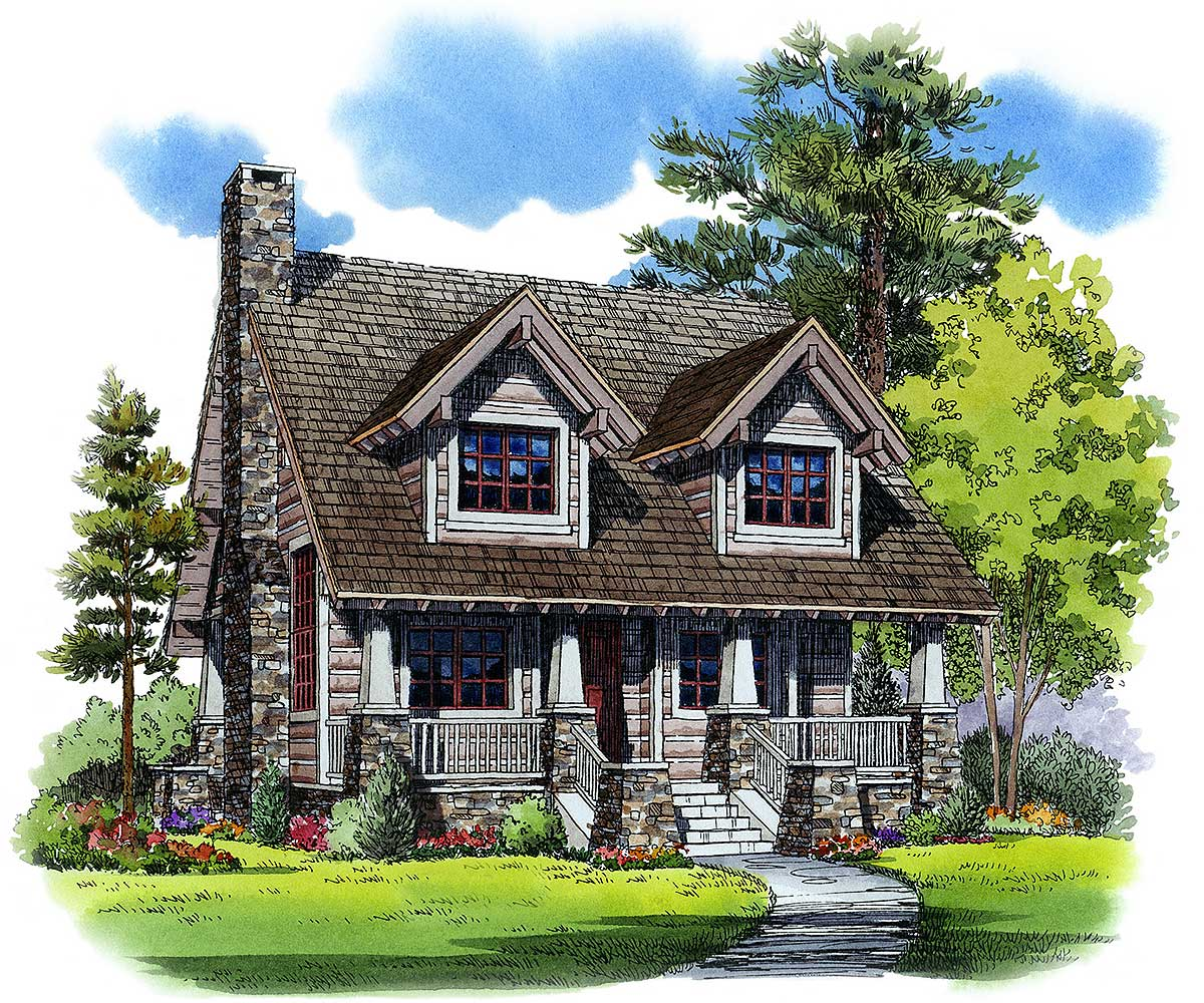 Home Design Plans: Cozy Mountain House Plan - 11527KN