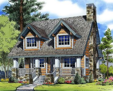 Mountain Cabin Plan 11528KN Architectural Designs House Plans