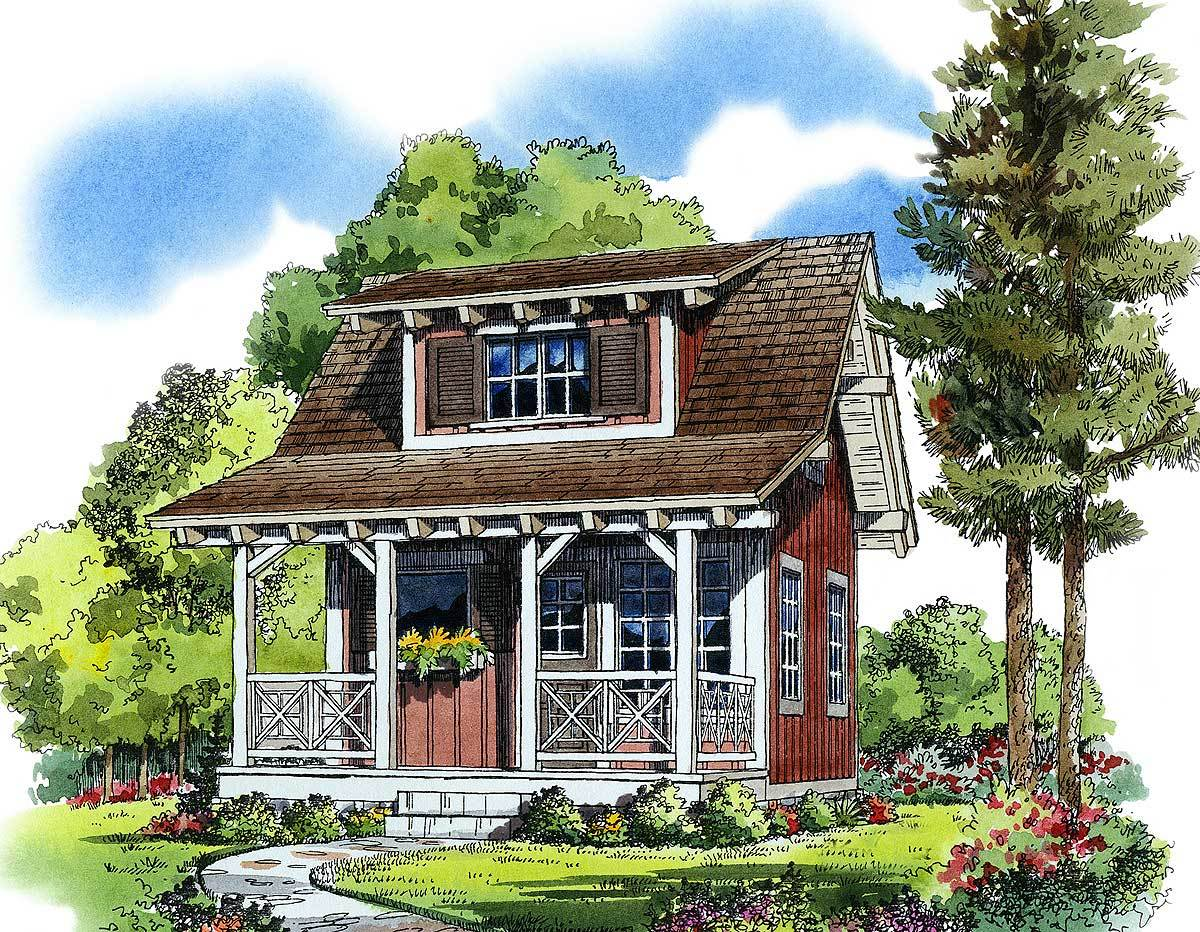 Cozy guest cottage or retreat 11537kn architectural for Cozy cottage home designs