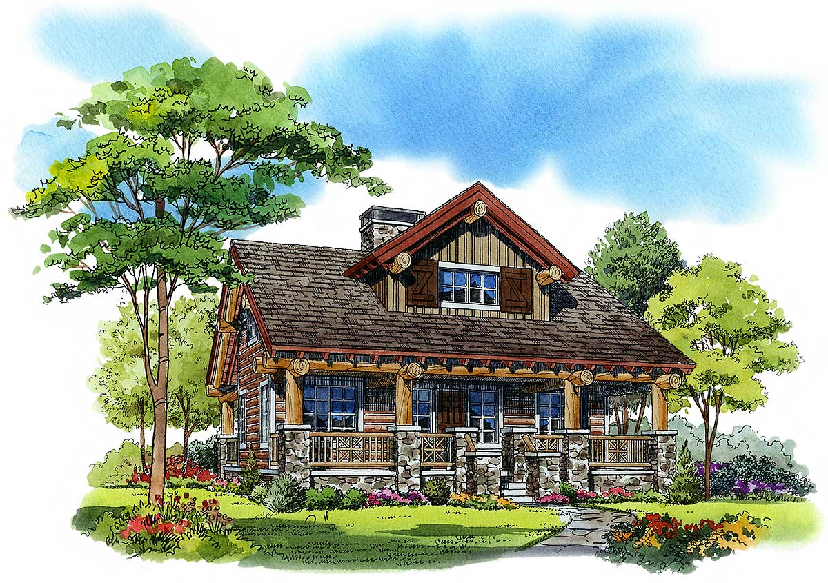 Porches front and back 11541kn architectural designs for House plans with large front and back porches