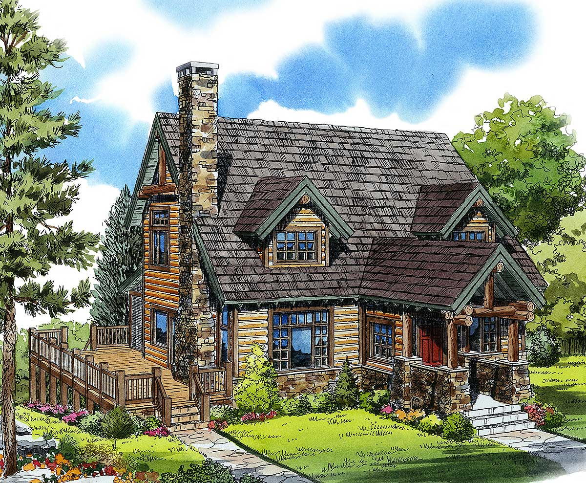 mountain chalet house plans mountain cabin 11545kn architectural designs house plans 20907