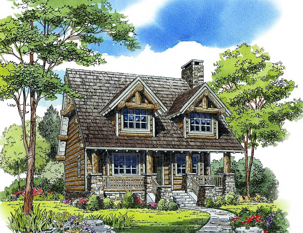 2 bed rustic retreat 11548kn architectural designs for Rustic retreat
