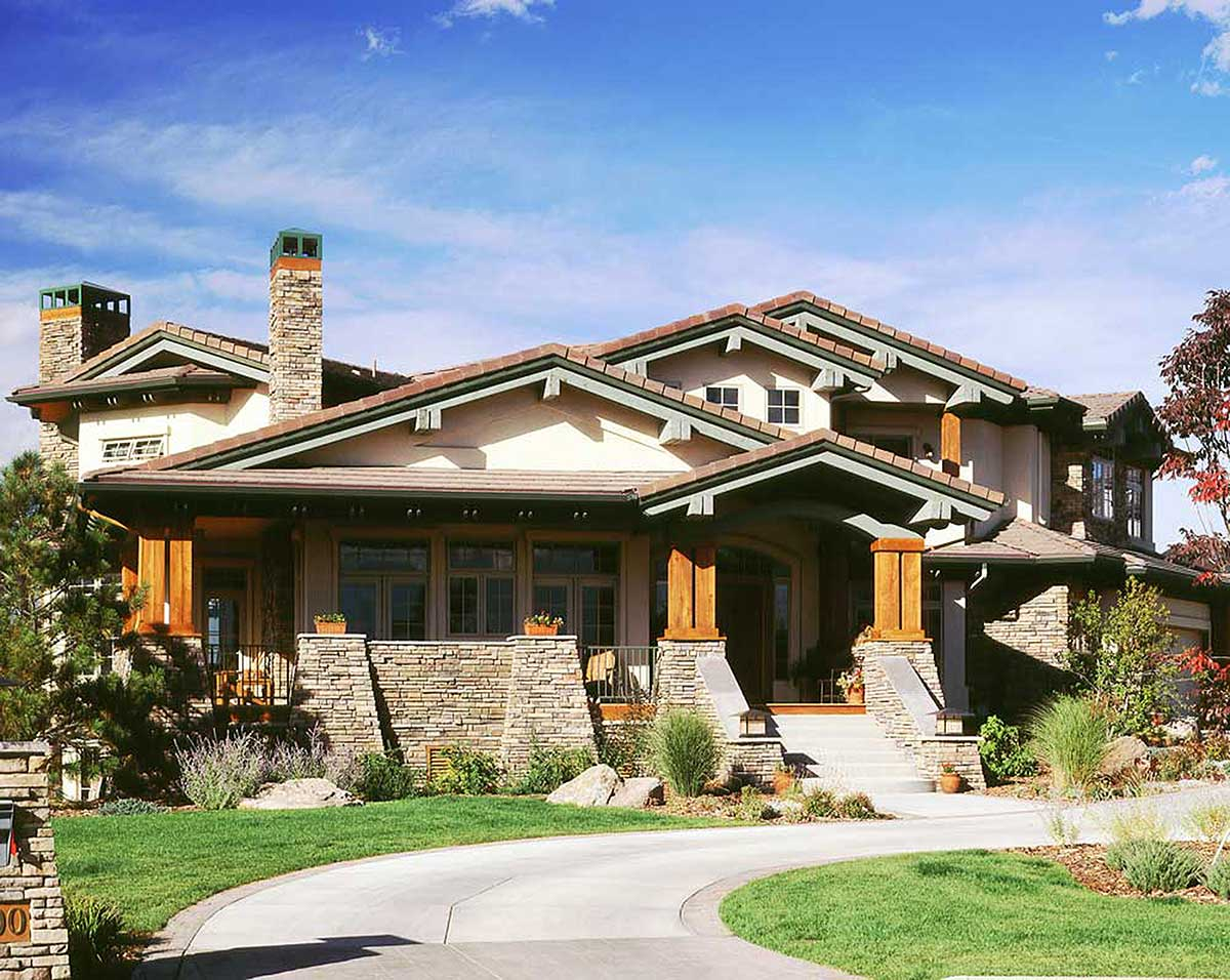 Stunning Mountain Home Plan 11552kn Butler Walk In