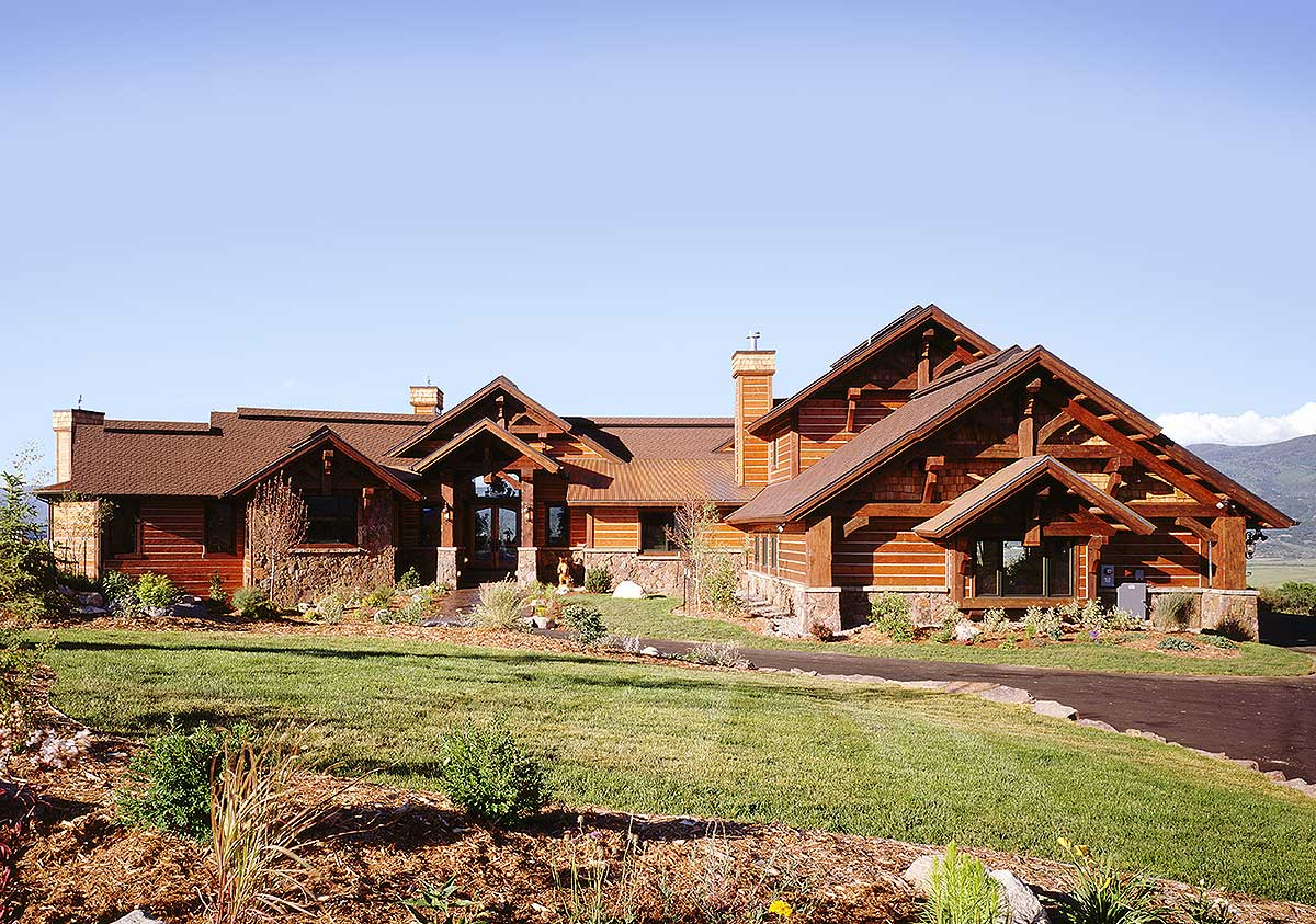 Luxury mountain lodge 11578kn architectural designs for Mountain lodge home plans