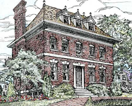 Stately Brick Home Plan 11602GC Architectural Designs House
