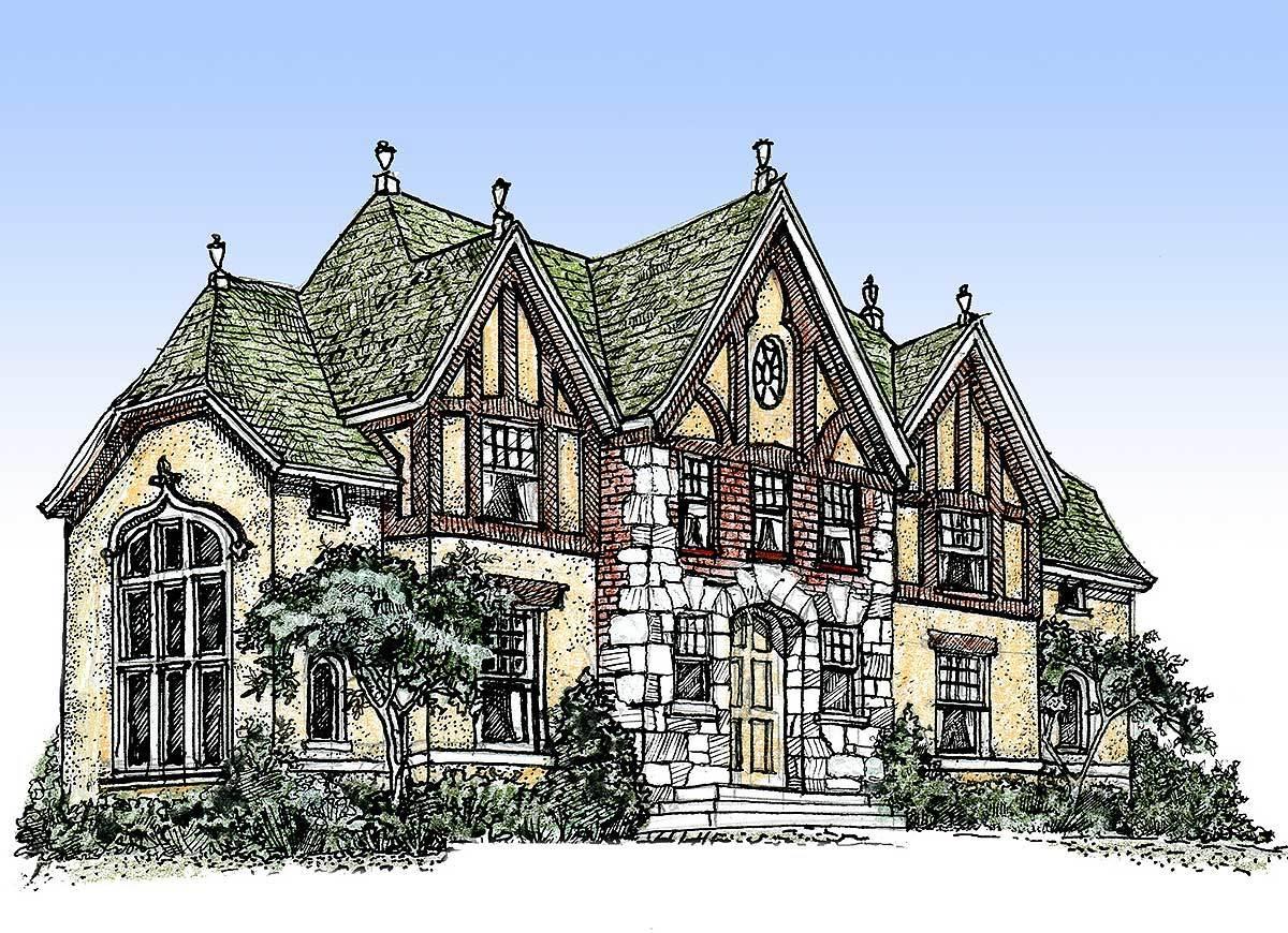 Impressive english tudor 11603gc architectural designs for English tudor home designs