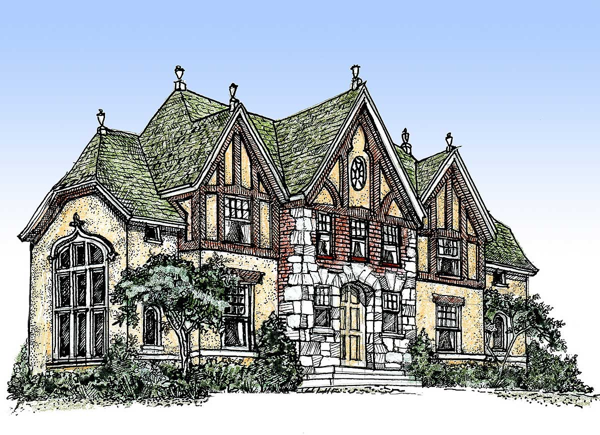 Impressive english tudor 11603gc architectural designs for Tudor cottage plans
