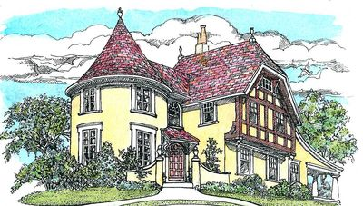 Turreted Tudor Cottage - 11605GC thumb - 01