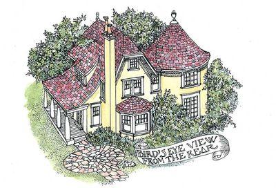 Turreted Tudor Cottage - 11605GC thumb - 02