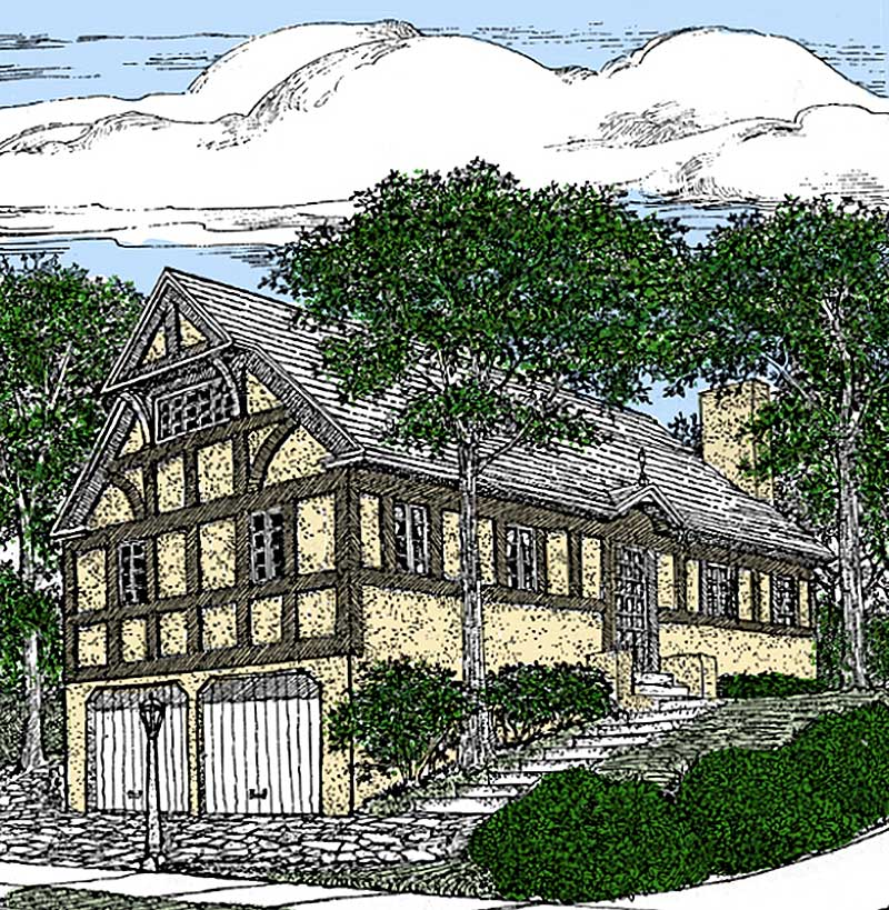 English tudor with apartment below 11618gc 1st floor for English tudor home plans