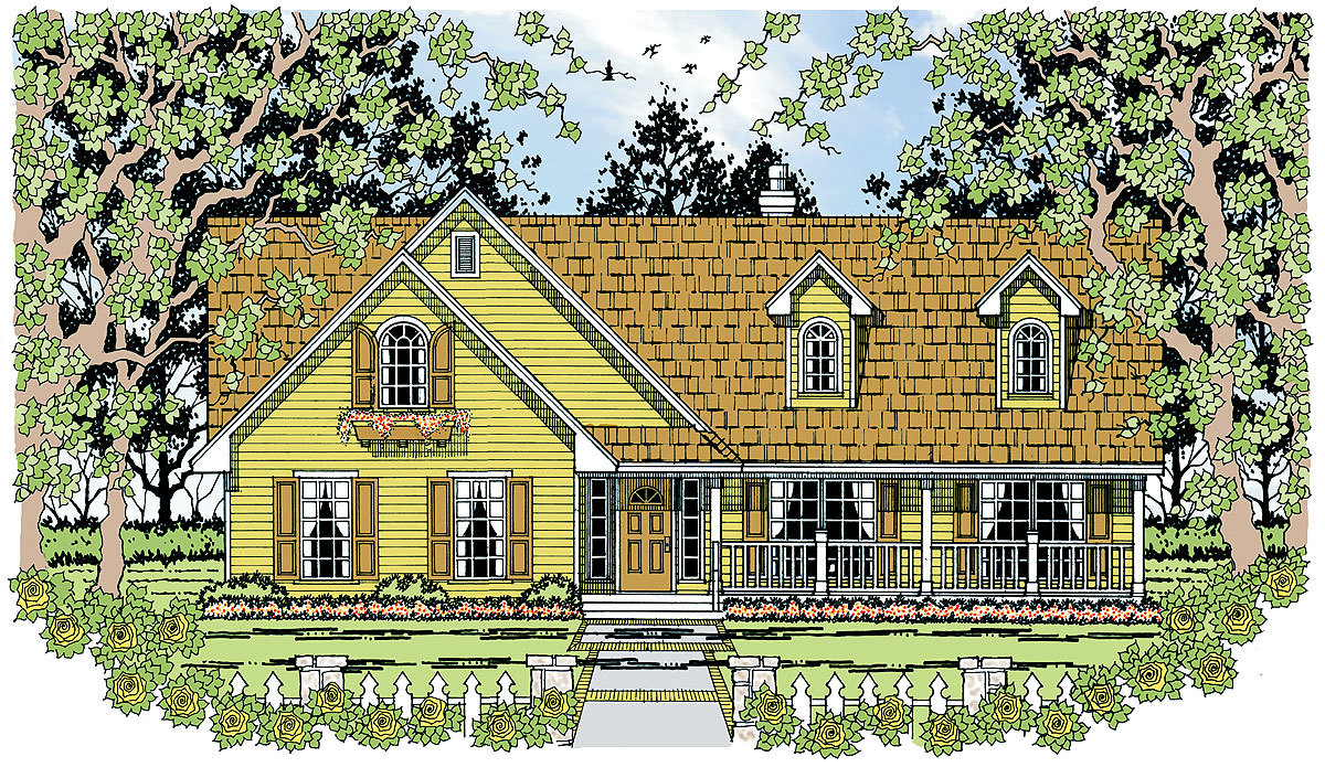 Charming country home plan 11632kr architectural for Charming house plans