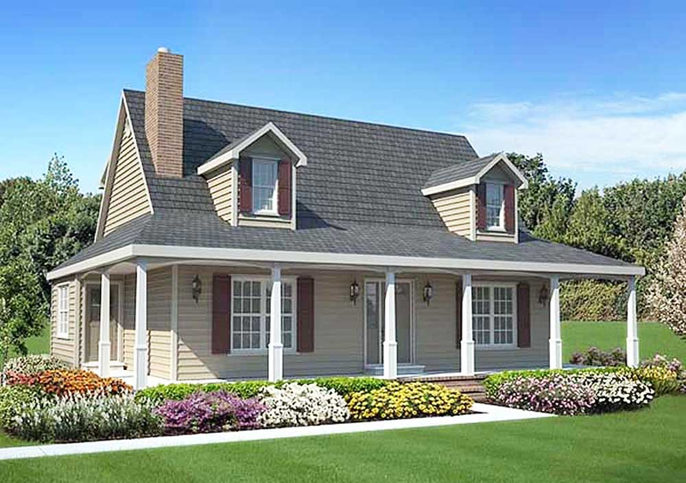 Cozy country trimmings 1170g architectural designs for Cozy home plans