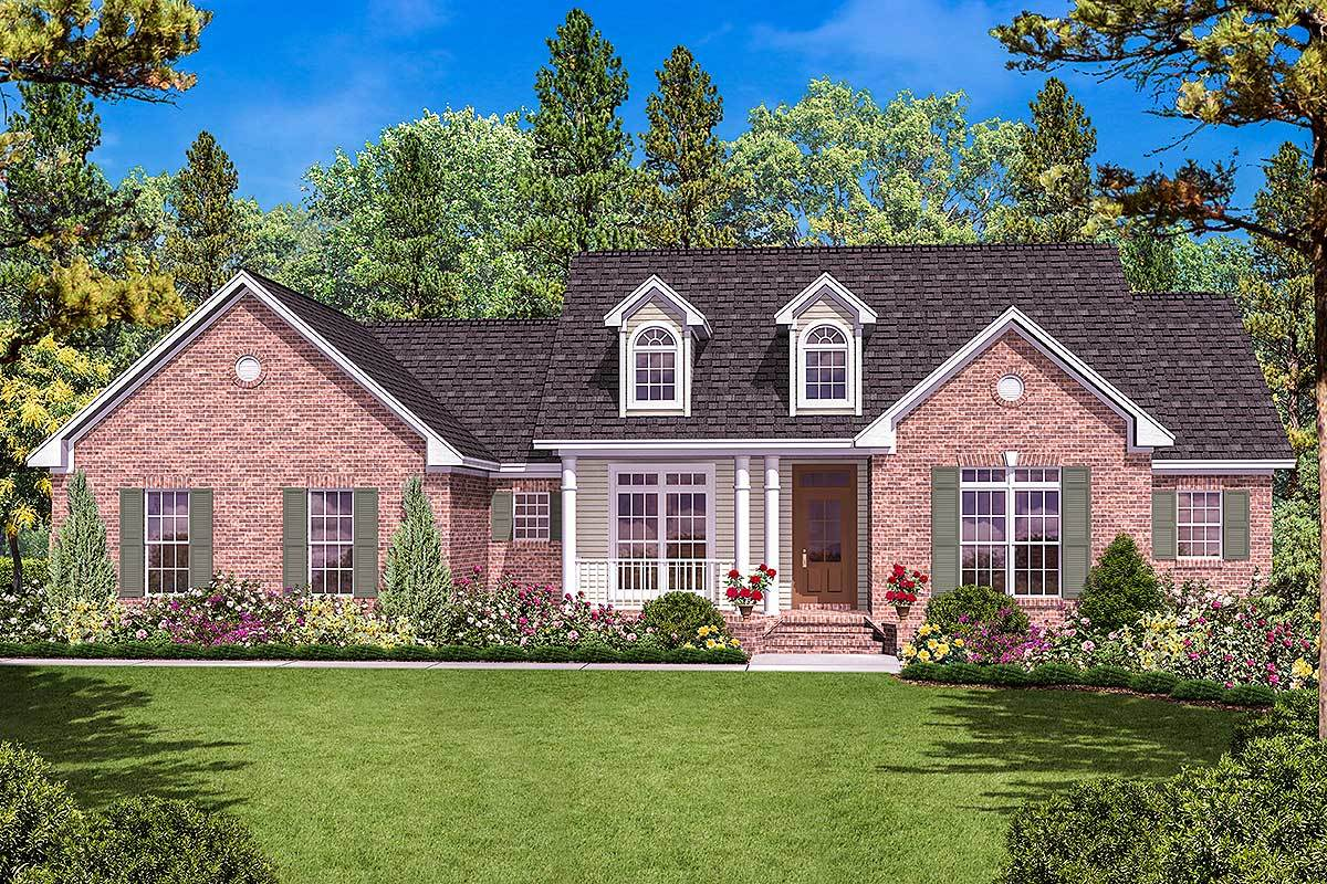 One Story House Plan with Three Exterior Options - 11716HZ ...