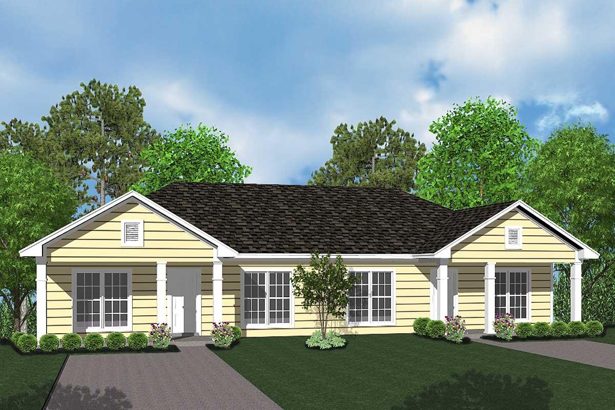 Well Design: Well-Designed Duplex House Plan - 11733HZ