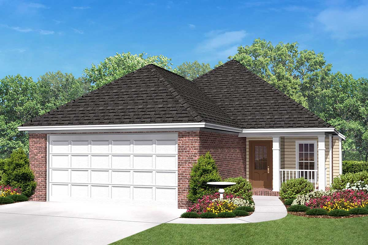 11737HZ Angled Lot House Plan Designs on triangular lot house plans, narrow lot house plans, v-shaped lot house plans,