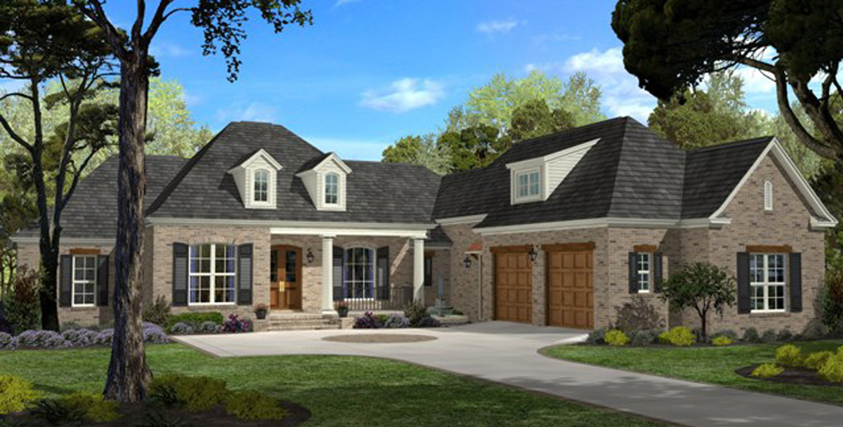 Architectural designs for Large french country house plans