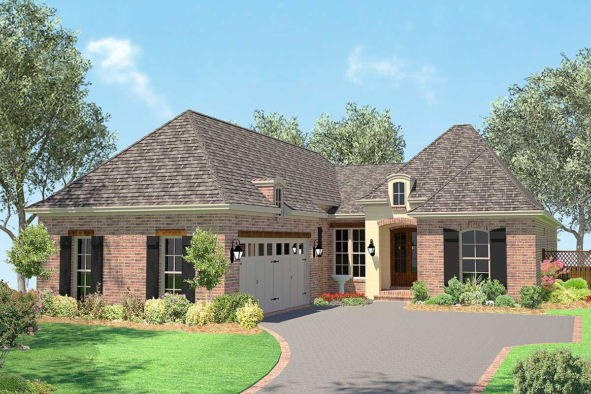 Narrow Lot Acadian House Plan 11792HZ Architectural Designs House Plans