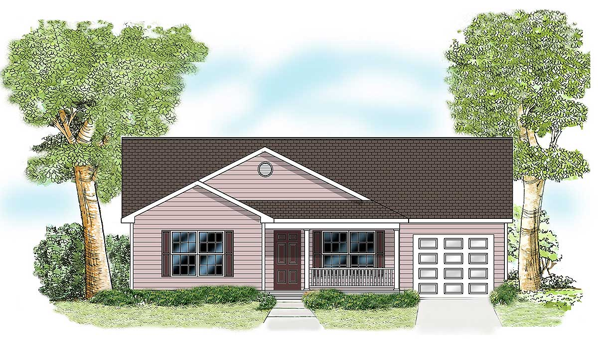 Perfect Starter Home Plan 11906lw Architectural