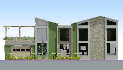 Stunning Contemporary Beach Home Plan - 1200AJ thumb - 02